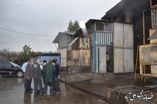 بازدید از سرپرست معاونت عمرانی استانداری از کارخانه تولید فرآورده های فولادی علی آبادکتول
