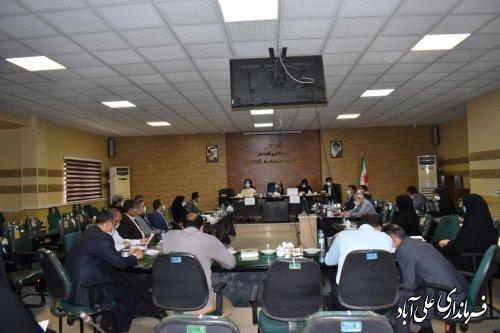 ششمین جلسه شورای آموزش و پرورش شهرستان علی آباد کتول برگزار گردید ؛