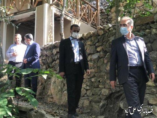 بازدید از روستای کوهستانی غریب آباد در دهنه گردشگری محمد آبادکتول