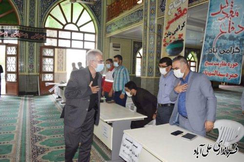 میزخدمت مسئولین در مصلی نمازجمعه علی آبادکتول برگزار شد ؛
