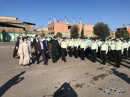 صبحگاه مشترک نیروهای نظامی و انتظامی شهرستان علی آبادکتول برگزار شد ؛
