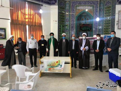 بازدید فرماندار از مرکز واکسیناسیون مسجد ولیعصر (عج) علی آباد کتول