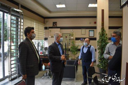 بازدید سرزده فرماندار از تعدادی  شعب بانک در شهر علی آبادکتول