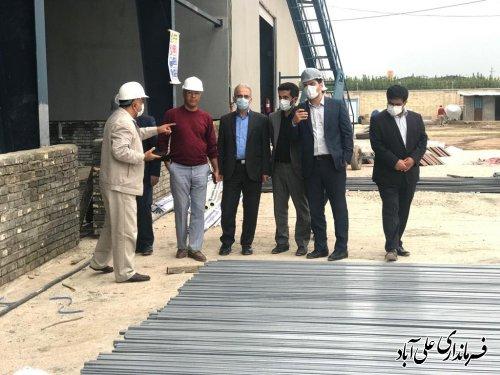 بازدید فرماندار علی آبادکتول از روند احداث کارخانه ریسندگی ماهوت شمال